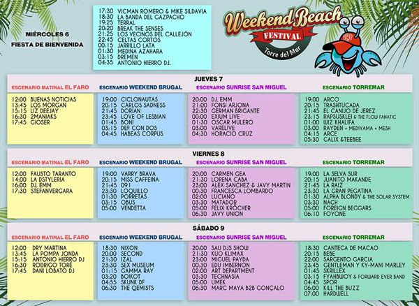 horarios-weekend-beach
