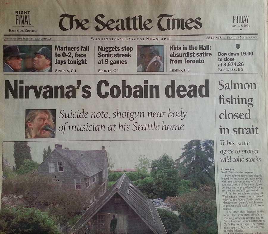 portada muerte cobain