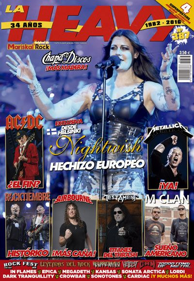 revista La Heavy 387 Nightwish portada floor jansen