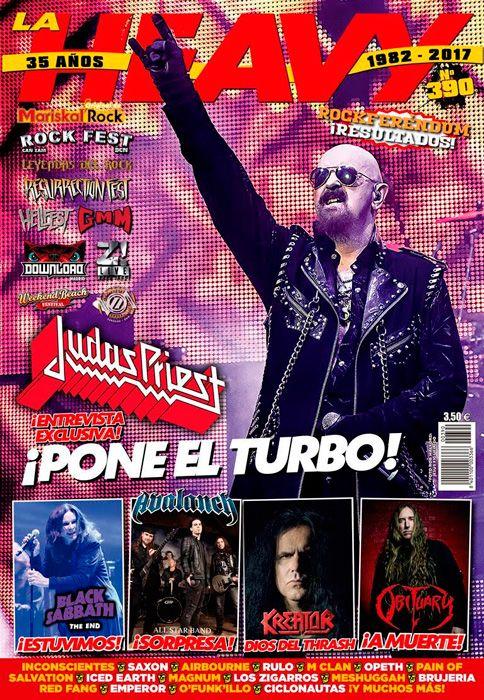 Portada de La Heavy Nº390 (febrero 2017) con Judas Priest en portada