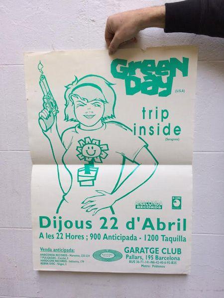 Green-Day-Garatge-póster-barcelona-94