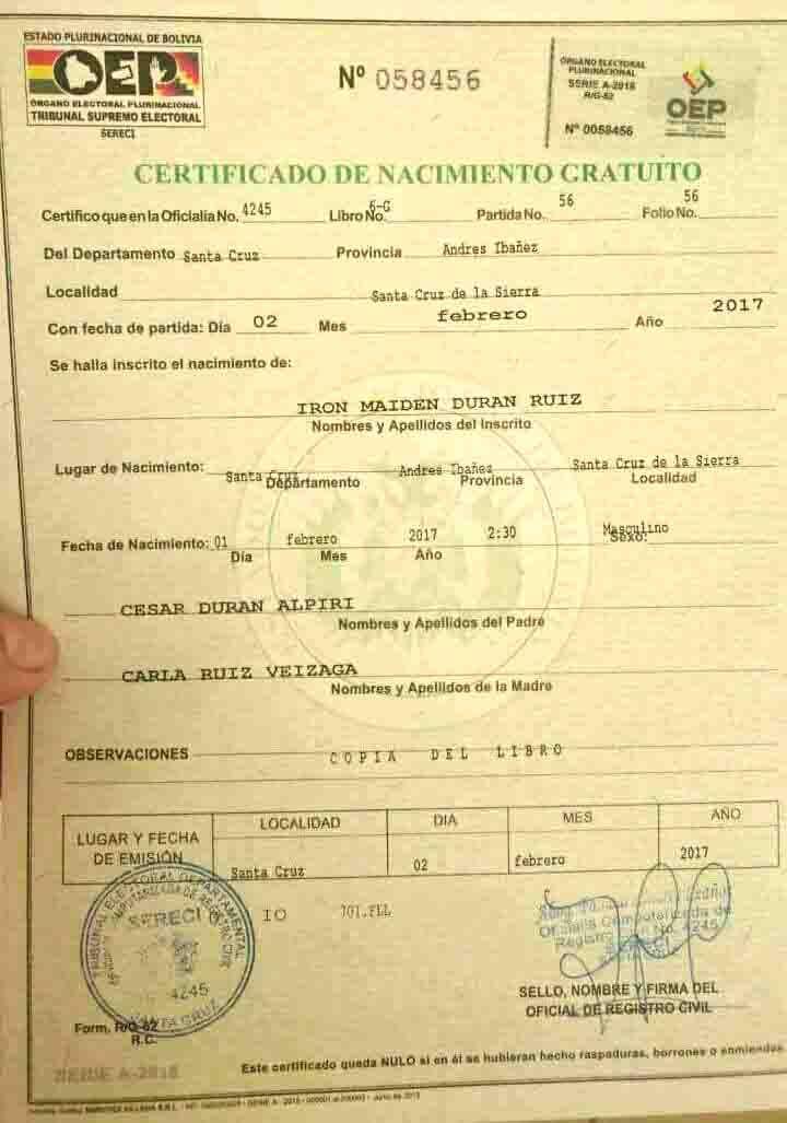certificado de navimiento