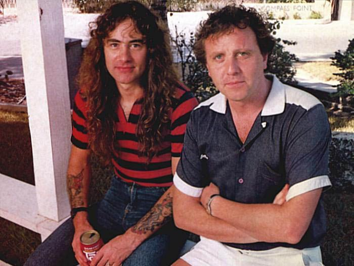Martin Birch y Steve Harris