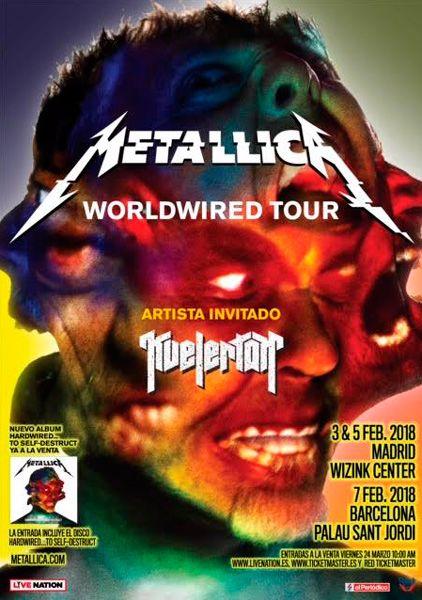 Metallica-hardwired-gira-peninsular-madrid-barcelona-2018