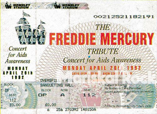 Entrada-tributo-freddie-mercury-ticket-tribute-1992