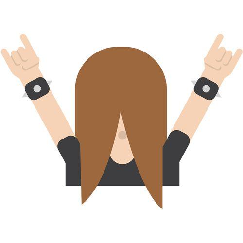 emoji-headbanger