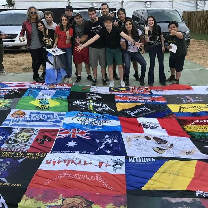 lars ulrich fans bandera metallica