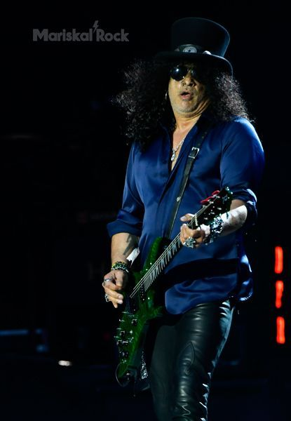 Slash, guitarrista de Guns N' Roses, en Bilbao (2017)