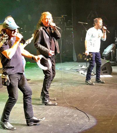 Brian Johnson, Robert Plant y Paul Rodgers juntos en Oxford