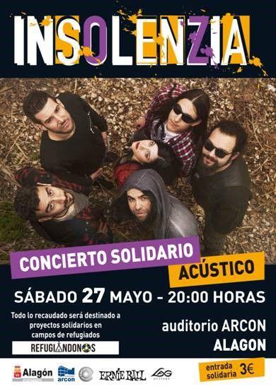 póster concierto solidario insolenzia