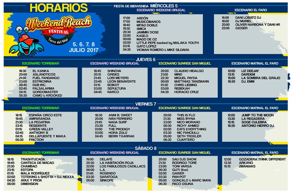 Horarios-Weekend-Beach-2017