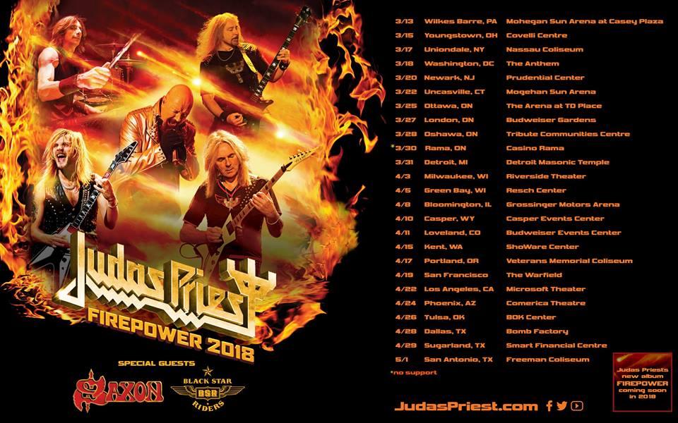 Judas Priest Firepower 2018