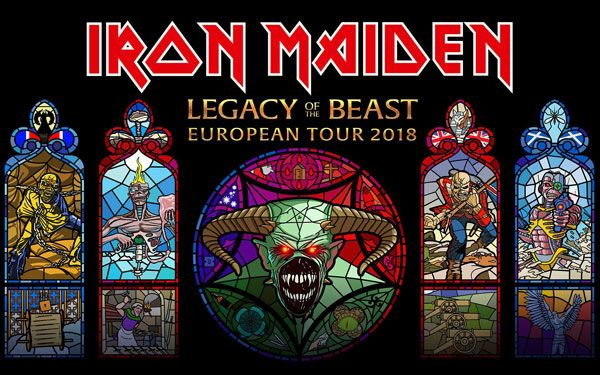 Iron Maiden Madrid 2018 concierto wanda metropolitano 14 julio legacy of the beast