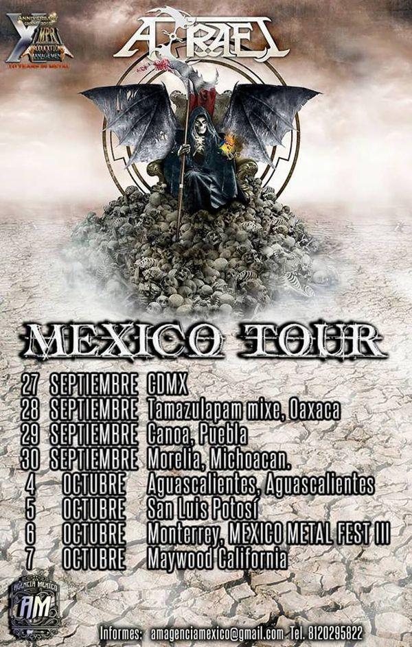 638f8c2d8cd Azrael anuncia un tour por México y Estados Unidos en septiembre y octubre.  28 mayo