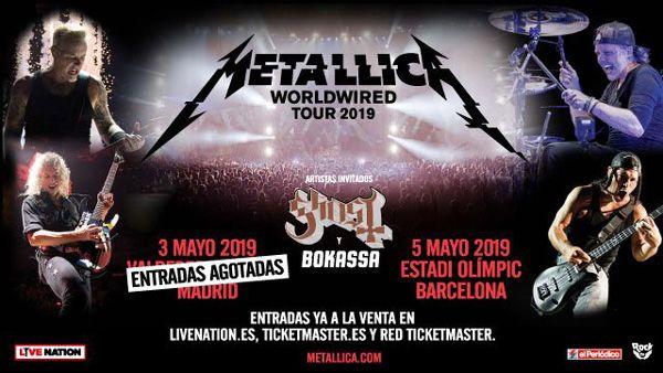Metallica agotan las 68.000 entradas del concierto en Madrid, hay para Barcelona