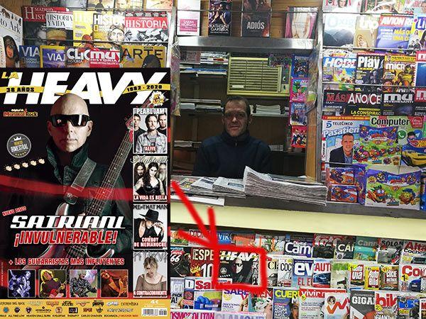 La Heavy ya está en los kioscos, como este en Madrid, muy cerca de la plaza de Prosperidad