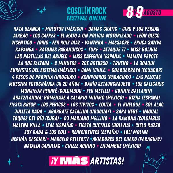 Los Tres serán parte de edición virtual de Festival Cosquín Rock
