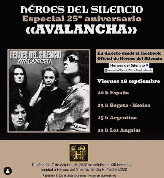 Héroes Del Silencio Anuncia Un Directo El Viernes 18 De Septiembre Mariskalrock Com