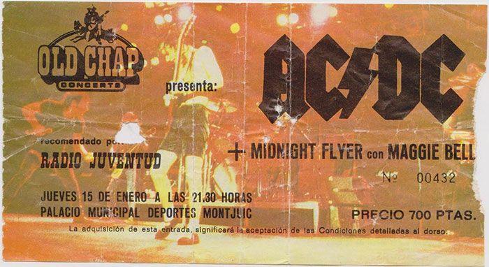 Entrada concierto AC/DC barcelona
