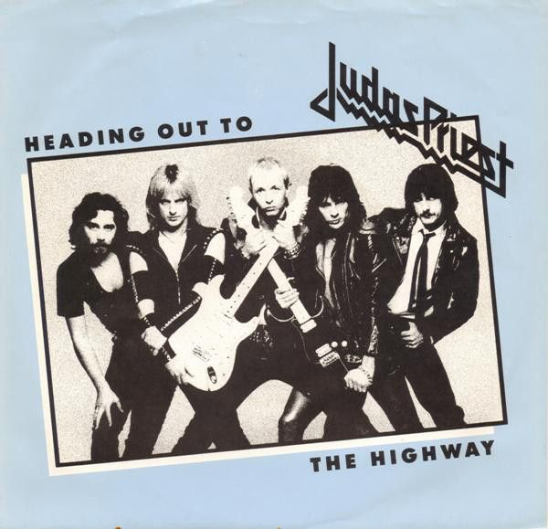 """Portada del single """"Heading Out to the Highway"""""""